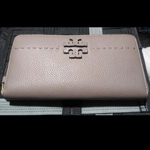 NWT* Tory Burch McGraw Continental Leather Wallet